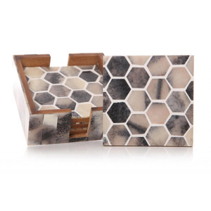 Honeycomb Design Coaster Set