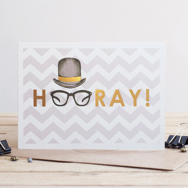 Gold Hooray Card