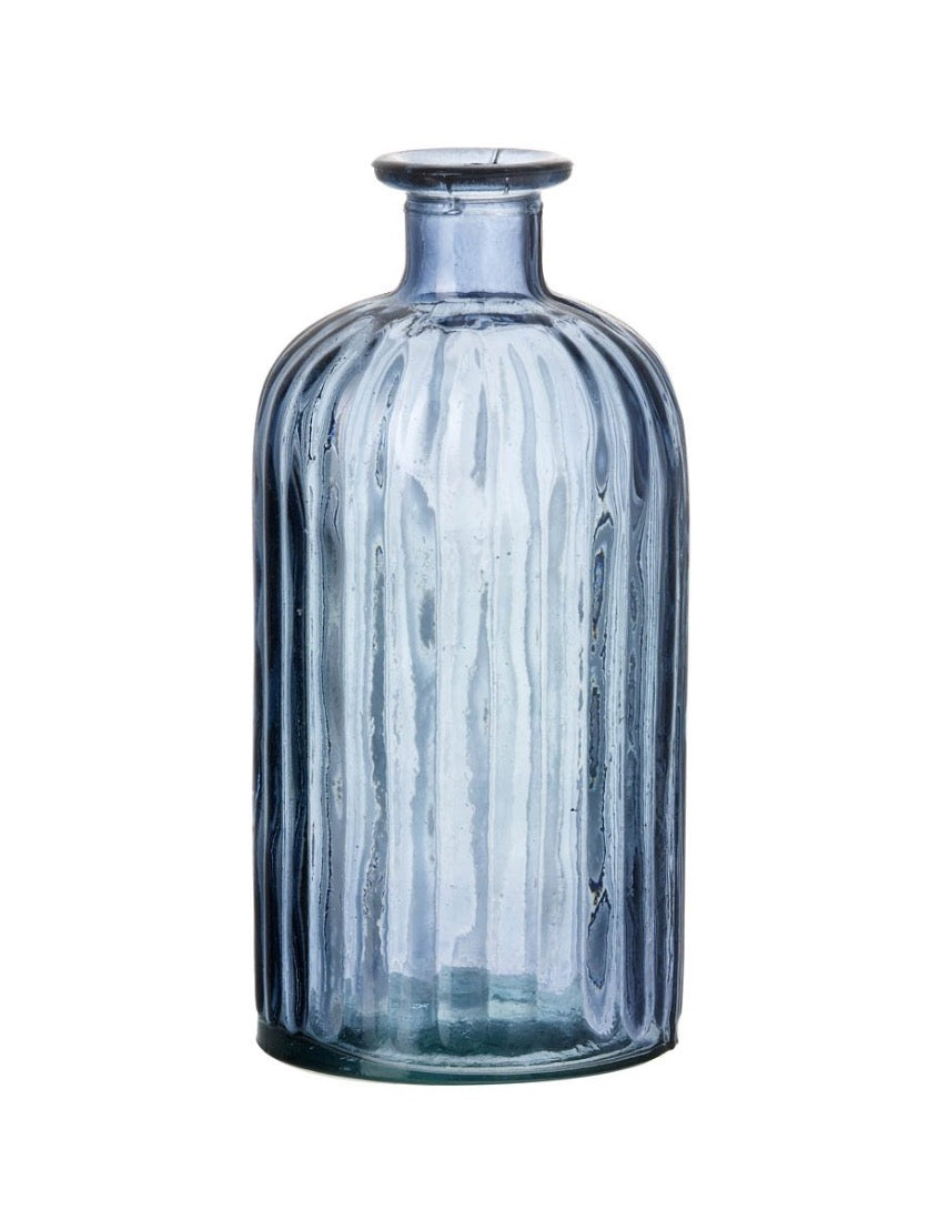 Blue Glass Bottle Solo Small