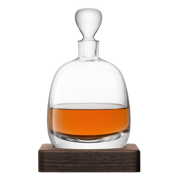 Islay Whisky Decanter with Walnut Base