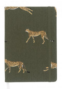 Cheetah A5 Fabric Notebook
