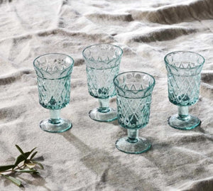 Etched Wine Glass Set