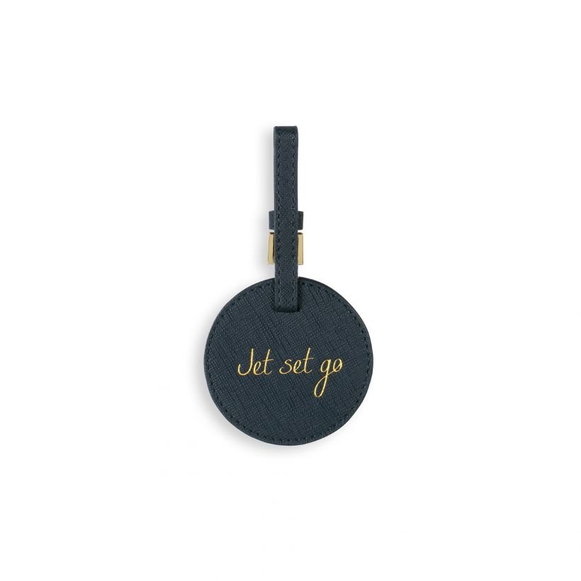 Circle Luggage Tag Jet Set Go Navy