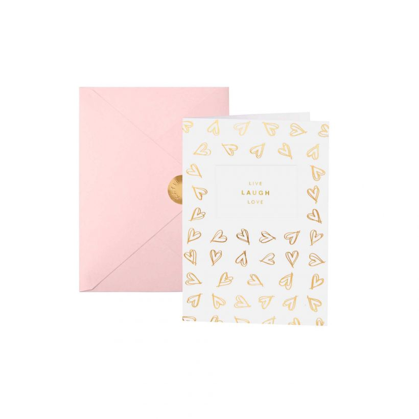 Greetings Card | Live Laugh Love