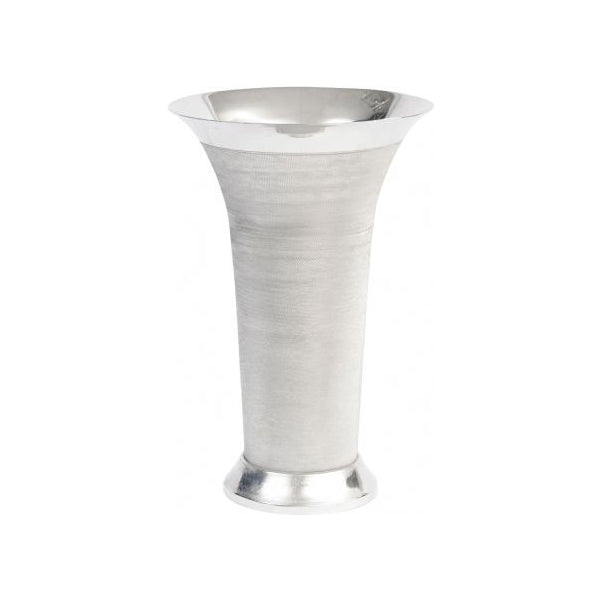 Large Silver Spun Flared Vase