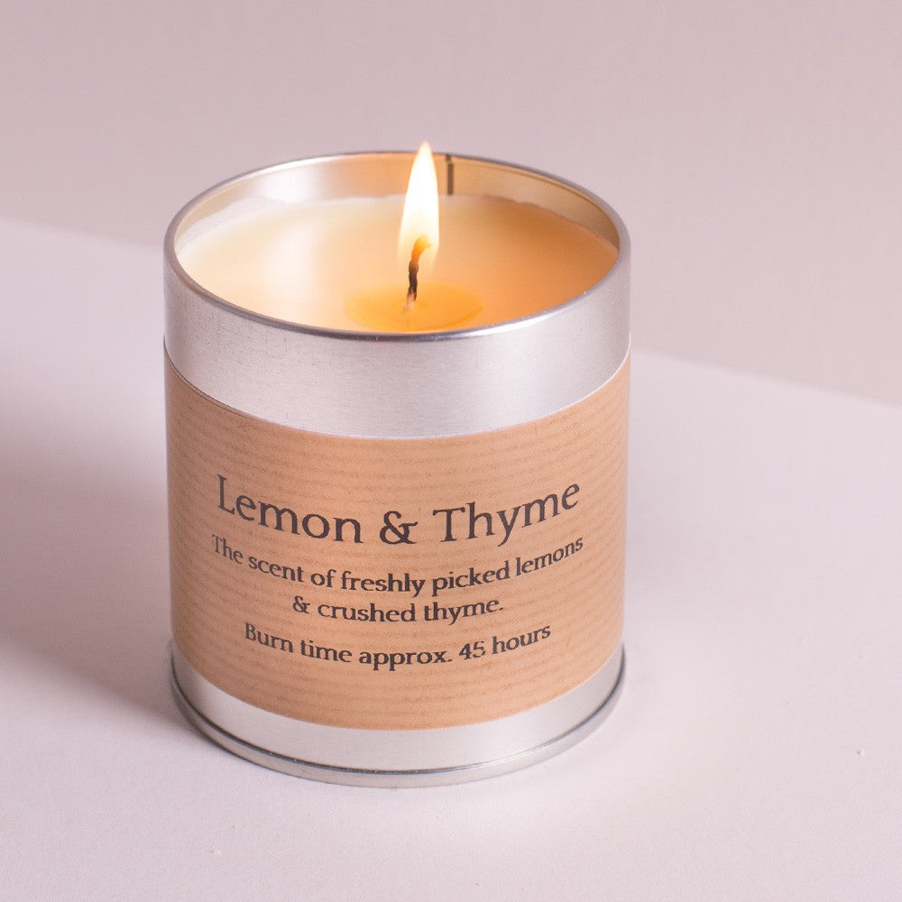 Lemon Thyme Scented Candle Tin