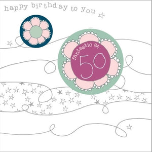 50th Flower Birthday Card