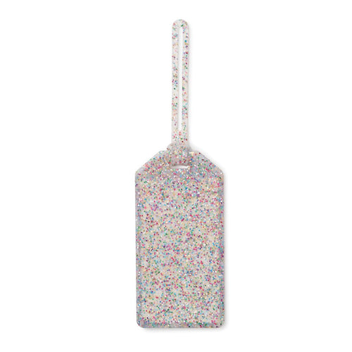 Multi Glitter Luggage Tag
