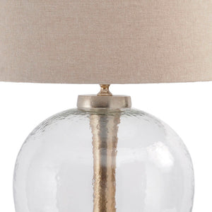 Manila Glass Orb Lamp with Shade - Close Up