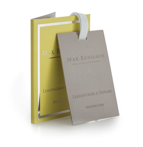 Max Benjamin Scented Card - Lemongrass & Ginger