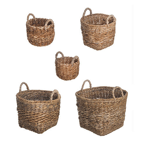 Natural Woven Baskets - Assorted Sized