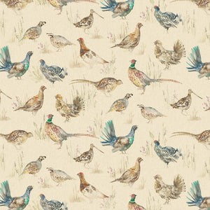 Mini Gamebirds Oil Cloth - Close Up