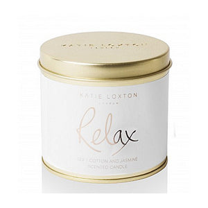 Relax - Soft Cotton and Jasmine Tin Candle - Closed