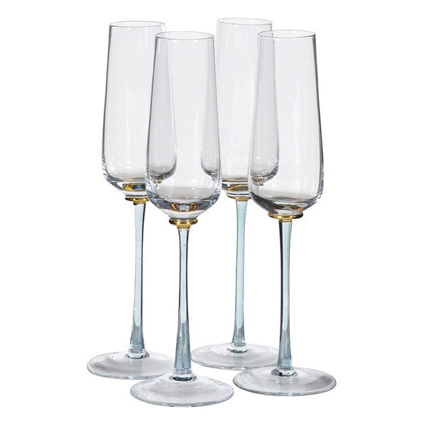 Smoked Stem Champagne Flute x 4