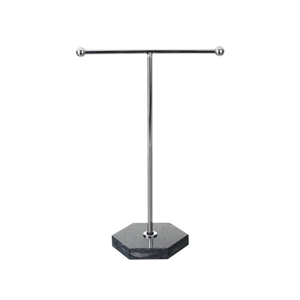 Silver and Black Jewellery Stand