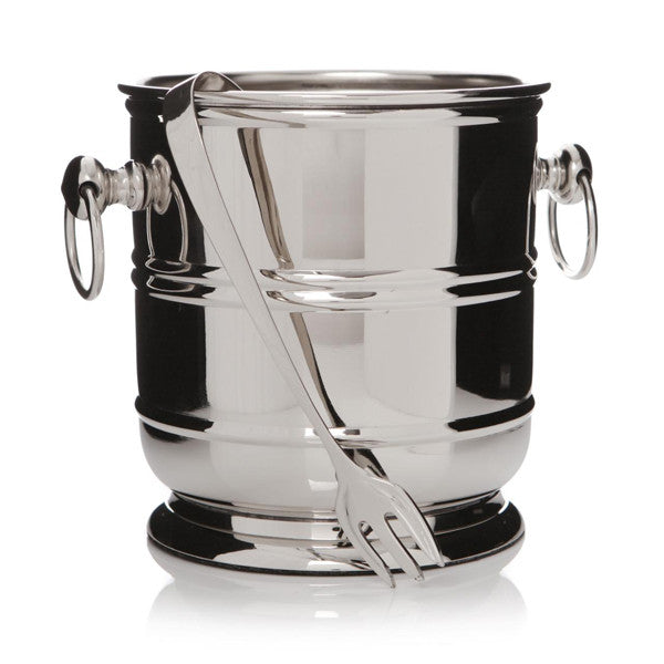 Silver Ice Bucket with Tongs