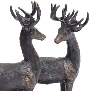 Stag Trio Sculpture - Close Up