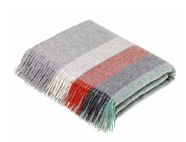 Harley Stripe Coral-Mint Throw