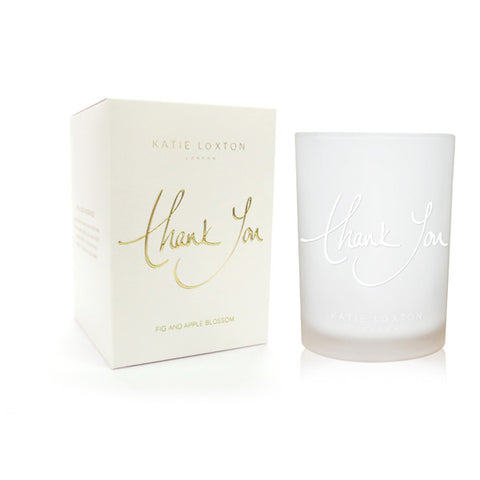 Thank You - Fig and Apple Blossom Candle