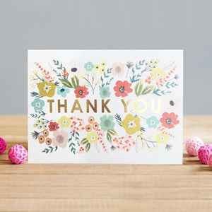 Thank You Floral Card