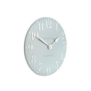 Arabic Stonewash Blue Wall Clock 12''