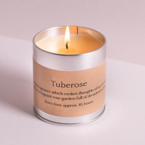 Tuberose Scented Tin Candle