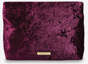Valentina Velvet Clutch Crushed Berry