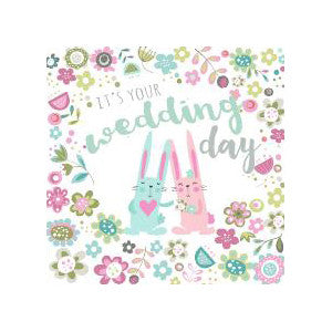Wedding Day Bunnies Card