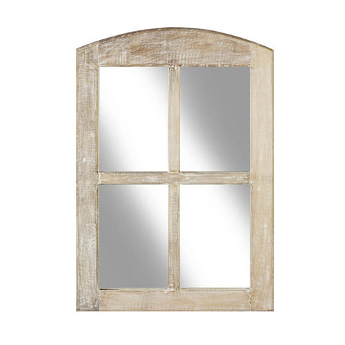 Wooden 4 Pane Window Mirror