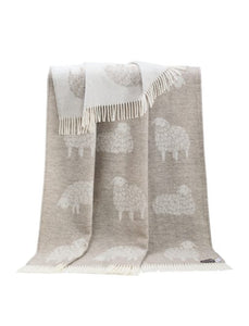 Soft Brown Sheep Wool Throw