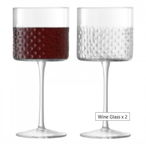 Clear Wicker Wine Glass
