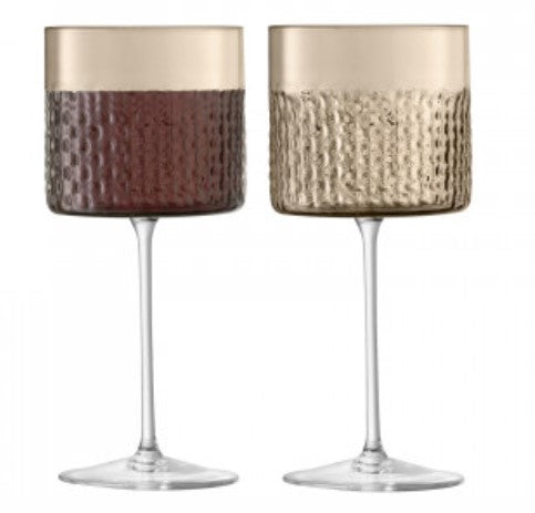 Taupe Wicker Wine Glass
