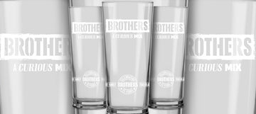 Brothers 25th Anniversary Glasses