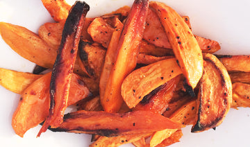 Toffee Apple Glazed Potato Wedges