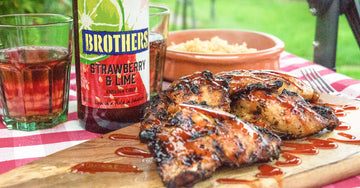 Grilled Chicken with Strawberry & Lime drizzle sauce