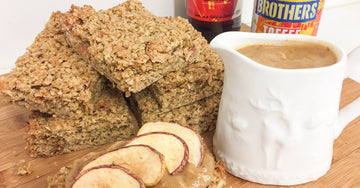 Toffee Apple Cider flapjacks