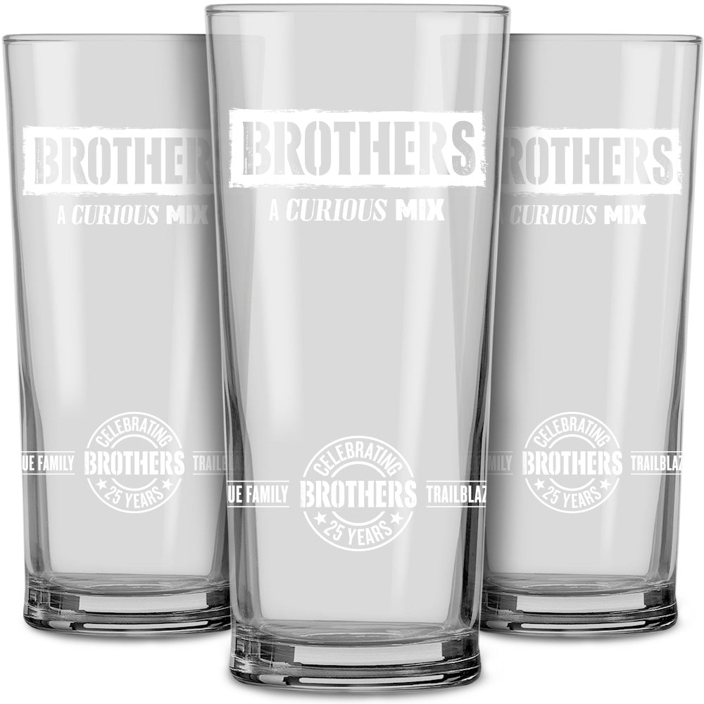 Brothers Cider 25th Anniversary Pint Glasses