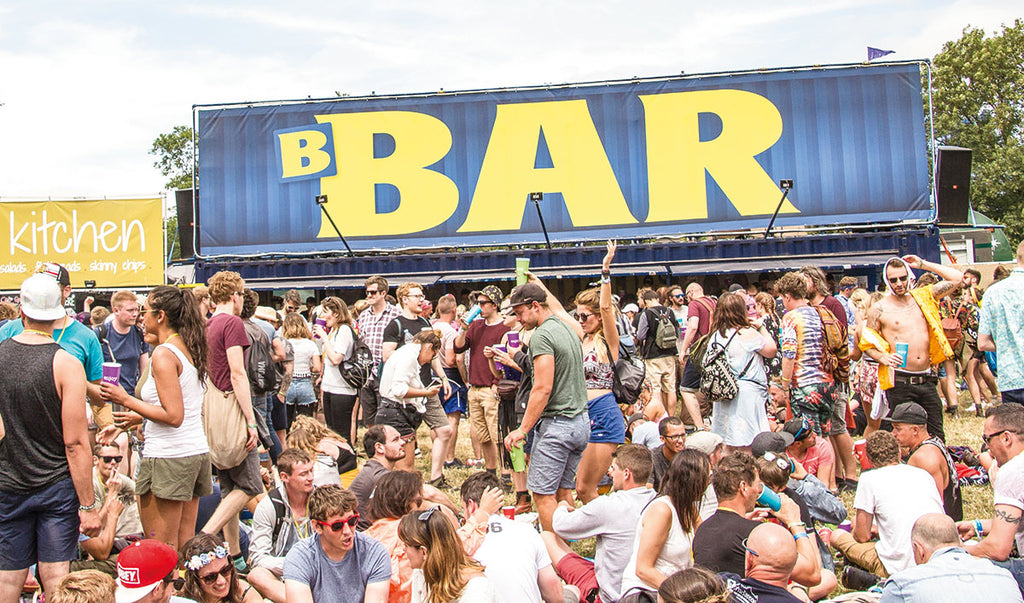 The famous Brothers B-Bar at the West Holts stage Glastonbury Festival