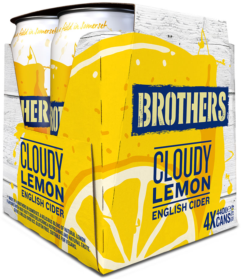Brothers New Cloudy Lemon 4x440ml can packs