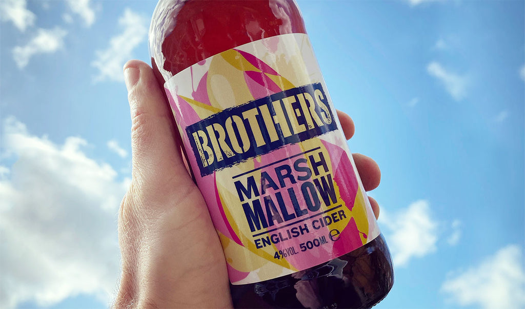Brothers Marshmallow cider on a sunny day