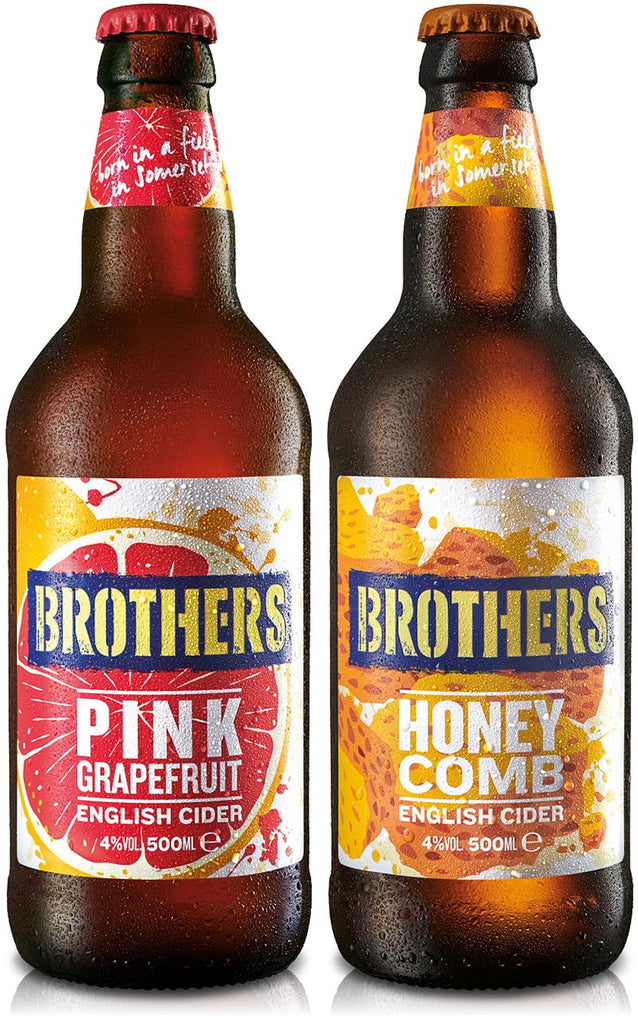 Brothers new Pink Grapefruit and Honeycomb English fruit cider