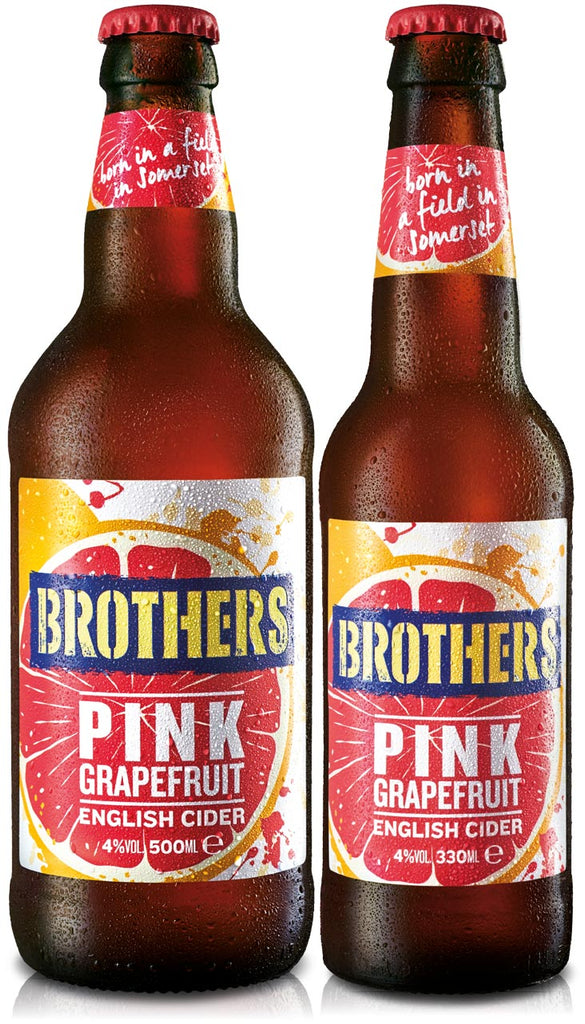 Brothers Pink Grapefruit English fruit cider