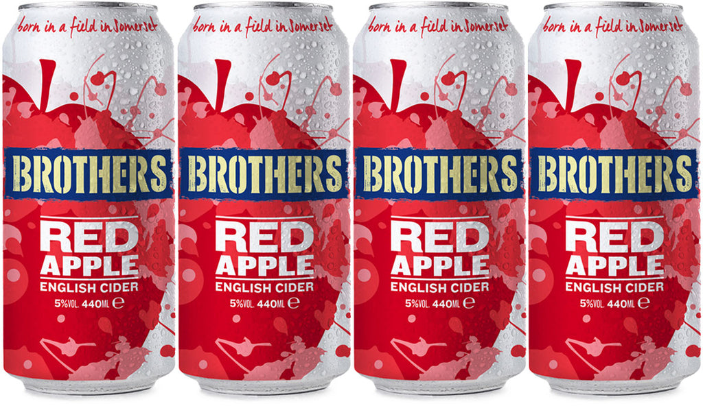 Brothers Red Apple Cider cans