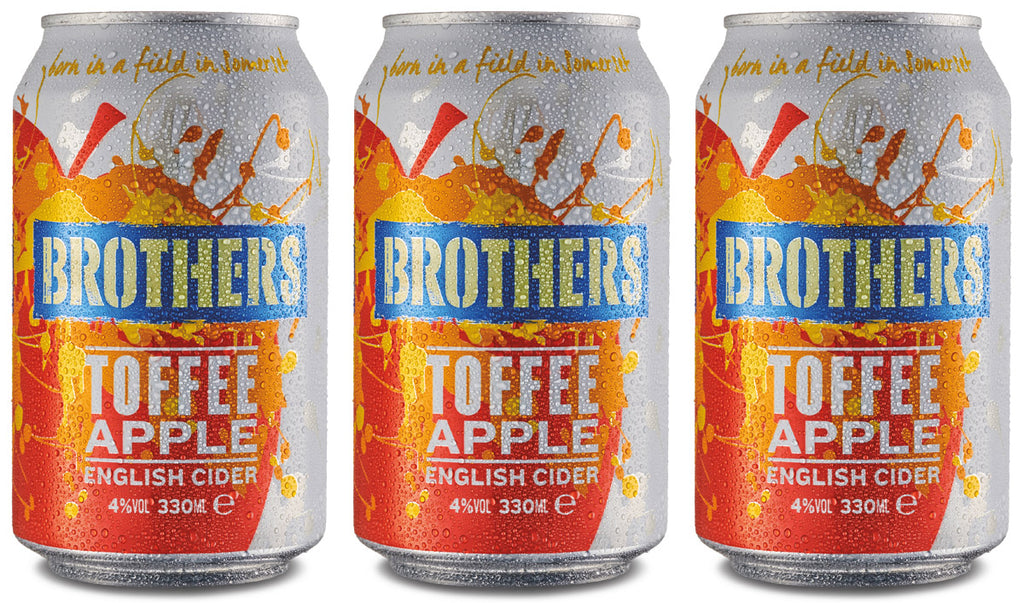 Brothers Toffee Apple cider in a can