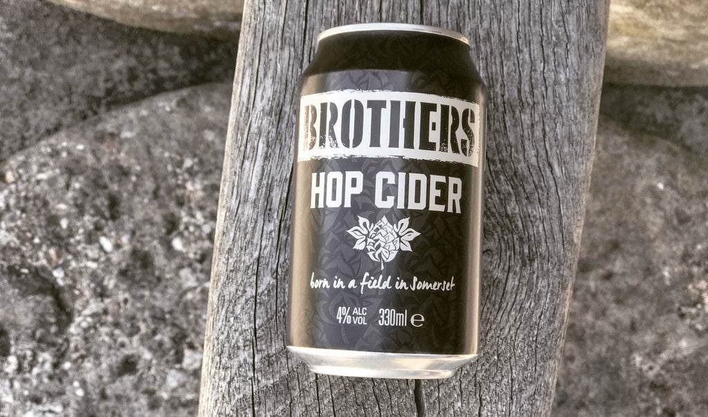 Brothers Hop cider in a handy 330ml can