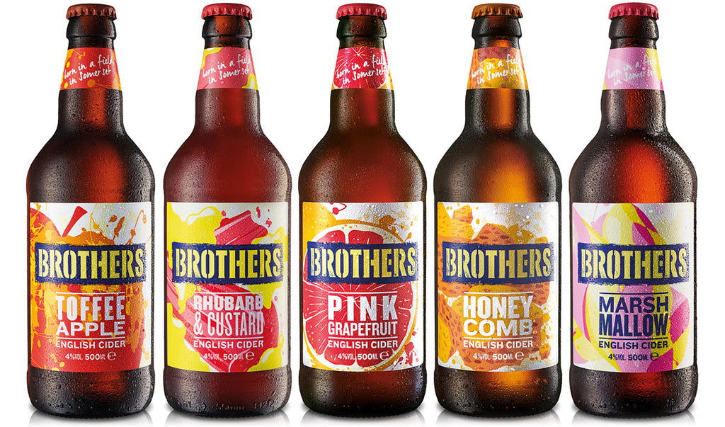 A selection of Brothers fruit cider