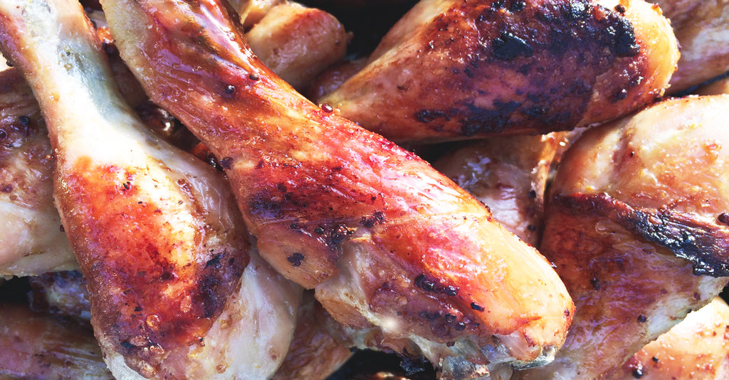 Marinated Chicken Drumsticks with Festival Pear Cider BBQ Sauce