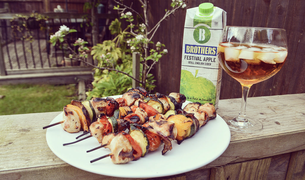 Festival Apple CIder BBQ Chicken Kebabs