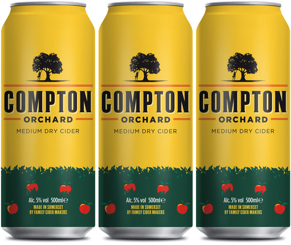 Compton Orchard cider can