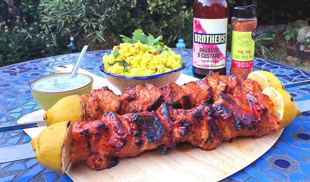 Sweet Chilli Piri Piri Chicken Skewers